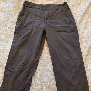 Black Crop Performance Athleta pants
